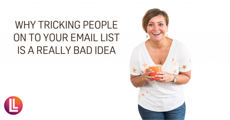 Don't trick people on to your email list